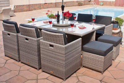 Grey Cube Garden Furniture 10 Seater