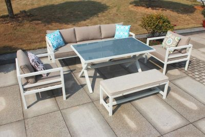 Valencia Casual Dining Set with 2-Seater Bench