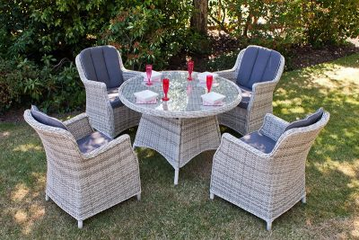 Manhattan 110 Round Dining Set