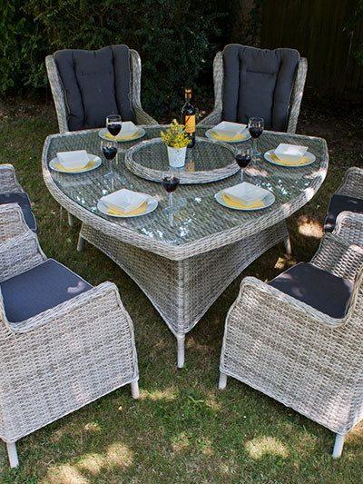 Manhattan 160 Triangular Wingback Dining Set
