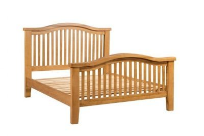 Montreal Oak Double Bed Curved