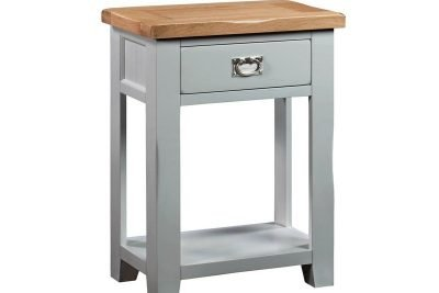 Montreal Grey Painted Oak 1 Drawer Console Table