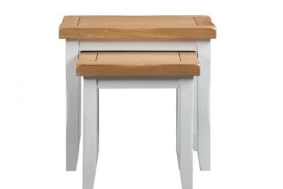 Montreal Painted Oak Nest of 2 Tables