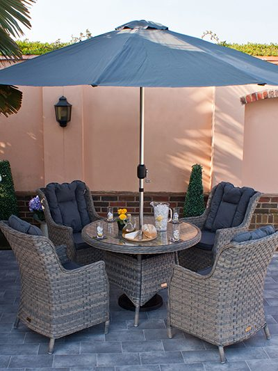 Corfu Woodash 110cm Round Dining Set 1