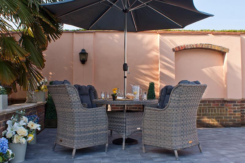 Corfu Woodash 110cm Round Dining Set 2
