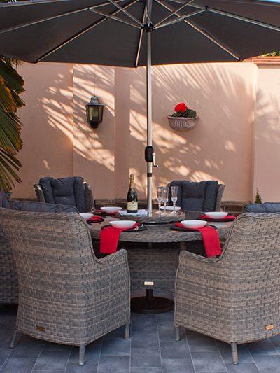Corfu Woodash 150cm Round Dining Set 1