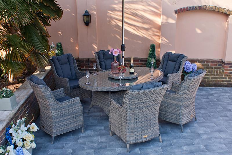 Corfu Woodash 180cm Elliptical Dining Set 2