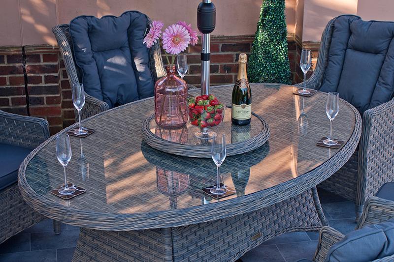 Corfu Woodash 180cm Elliptical Dining Set 4
