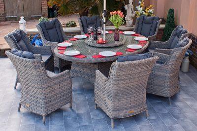 Corfu Woodash 210cm Elliptical Dining Set 1