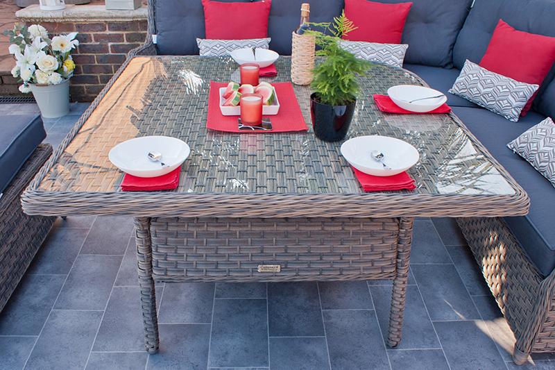 Corfu Woodash Corner Dining Set with Benches 3
