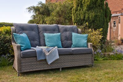 Corfu Woodash High Back Reclining 3 Seater Sofa 1
