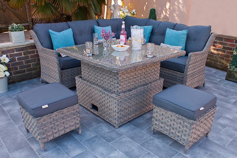 Corfu Woodash Petite Corner Dining Set 1