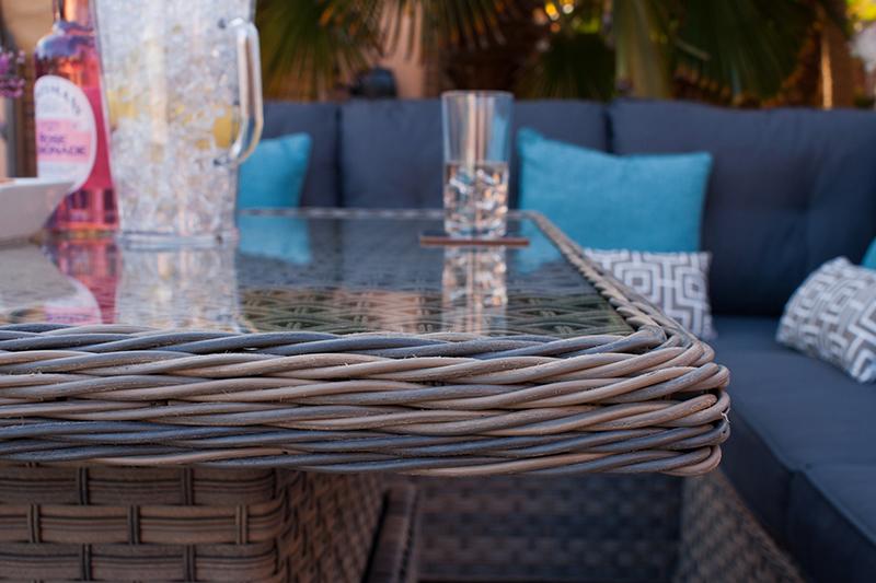 Corfu Woodash Petite Corner Dining Set 9