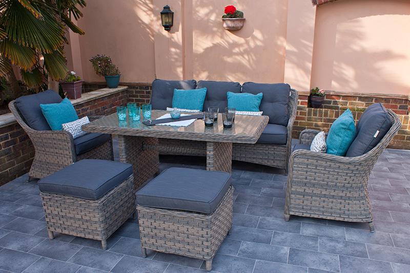 Corfu Woodash Rectangular Dining Set 2