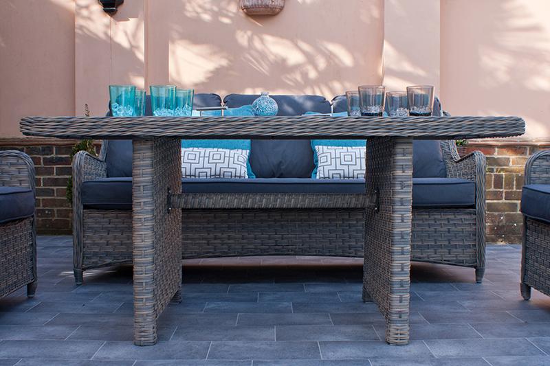 Corfu Woodash Rectangular Dining Set 3